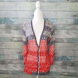 Anthropologie Field Flowers Doodle Cardigan Size S